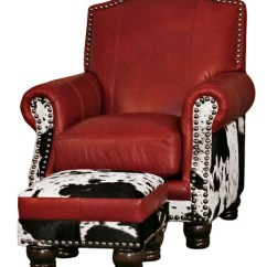 Black And White Cowhide Chair Wicker Chairs Western Passion