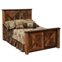 Barndoor Style Barnwood Bed Western Bedroom Furniture ...