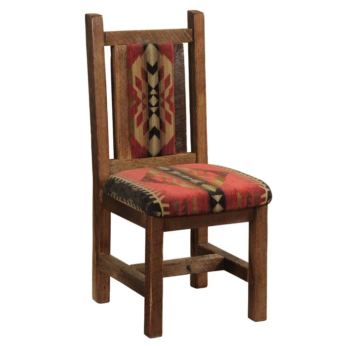 Barnwood Upholstered Side Chair  Set of 2 Western Passion