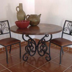 Western Kitchen Table Traditional Cabinets Pictures Round Forged Iron Dining 237 Passion