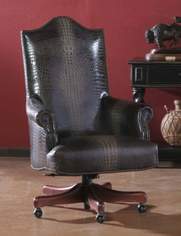 hair on hide office chair adjustable chairs western furniture desks montgomery