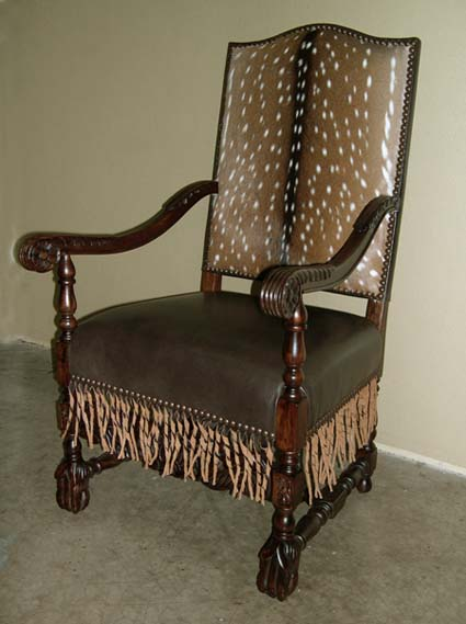 Axis Deer Western Chair Western Passion