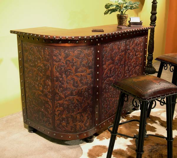 green dining room chairs red outdoor tooled leather bar: western passion