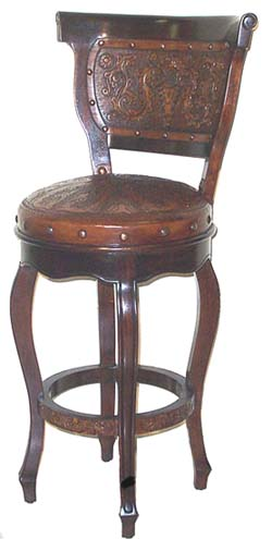leather kitchen chairs folding garden heritage barstool with back set of 2: western passion