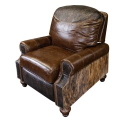Accent Chair Recliner Green Leather Dining Chairs Western Royalty
