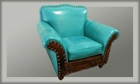 Albuquerque Turquoise Western Chair Western Accent Chairs ...
