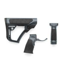 Daniel Defense Buttstock, Pistol Grip, & Vertical Foregrip Combo - Daniel Defense Tornado
