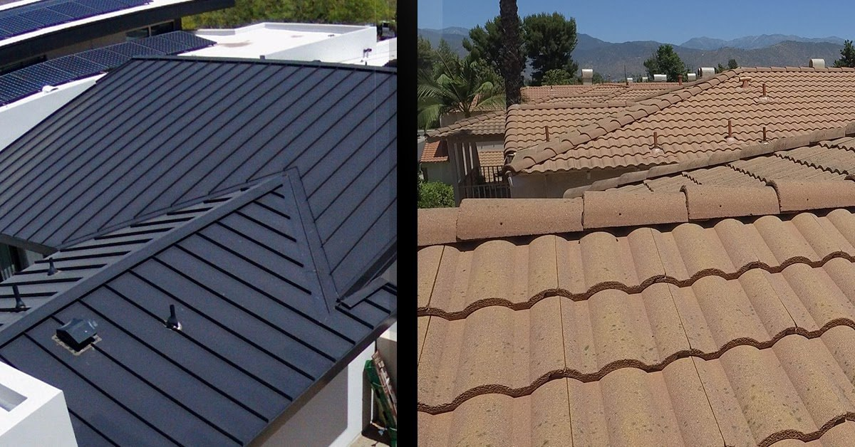 metal roof v clay tile which roofing