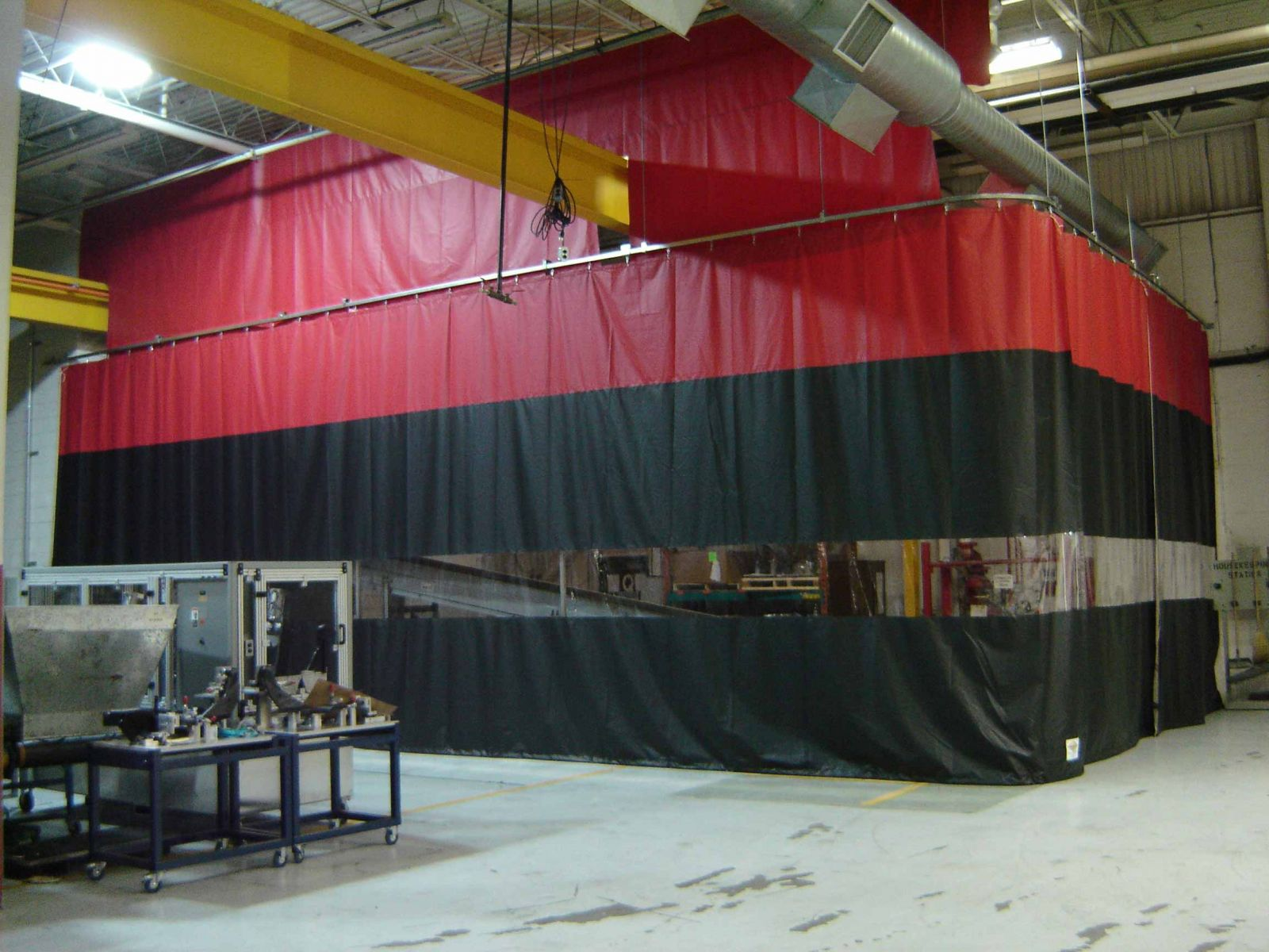 Industrial Curtains and Track