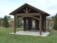 Cedar City Attached Pergola with Translucent Corrugated ...