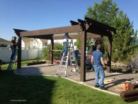 DIY Pergola Kit: Backyard Bed & Dining w/ Privacy Curtains ...