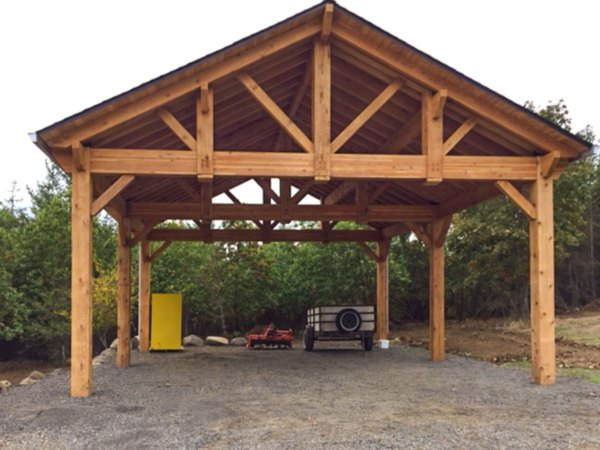 Building Easy Diy Rv Cover Western Timber Frame