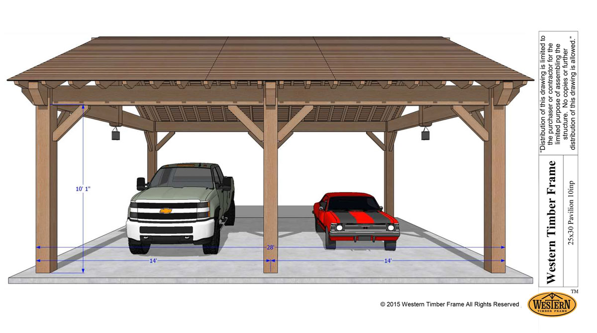 Easily Build Your Own Carport Rv Cover Western Timber Frame