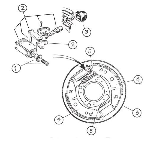 Lockheed trailer brakes exploded diagrams all now obsolete
