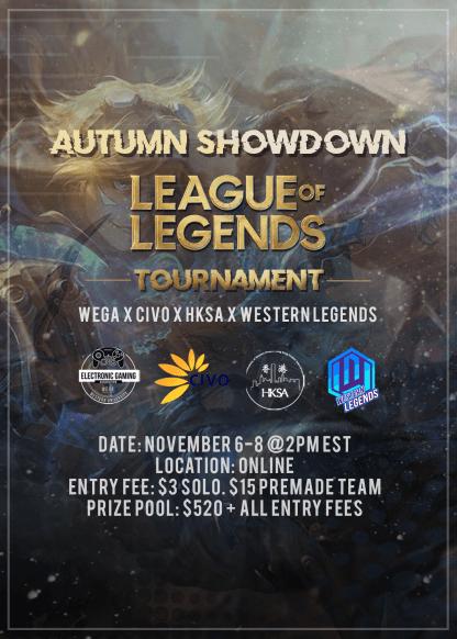 WEGA Autumn Showdown Poster