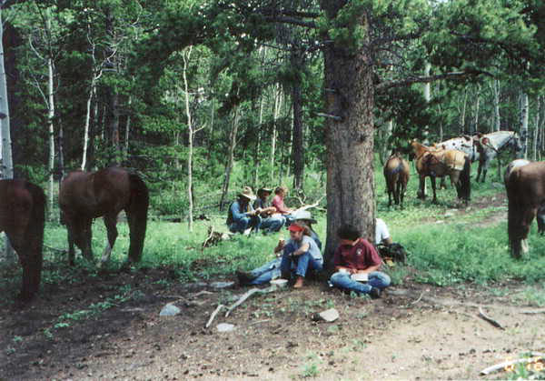 horseback riding-camping