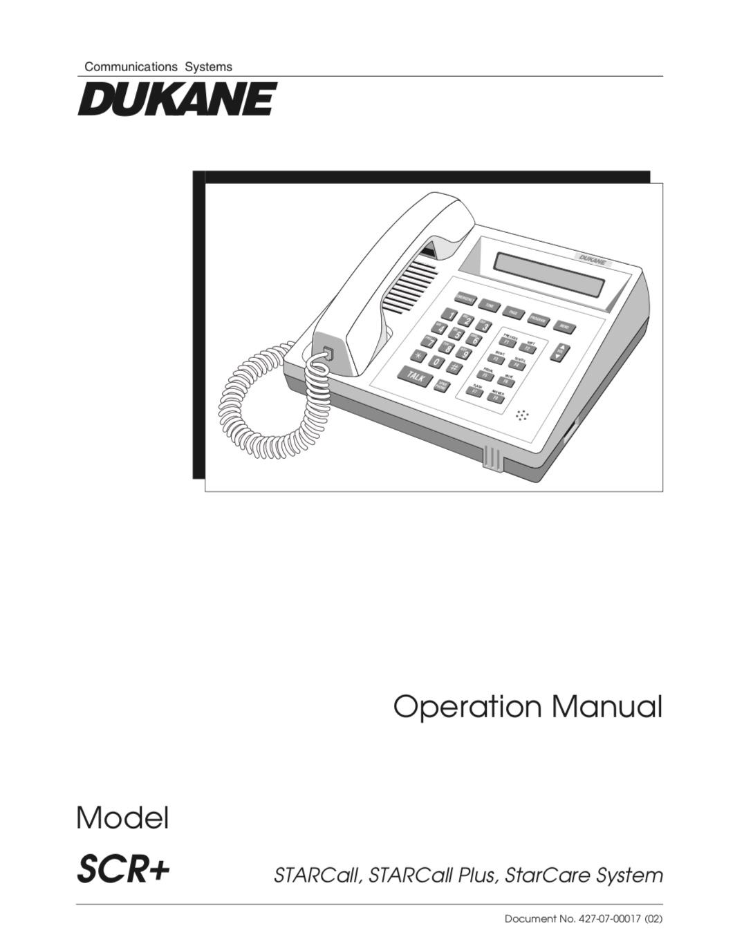 Dukane STARCall Operations Manual