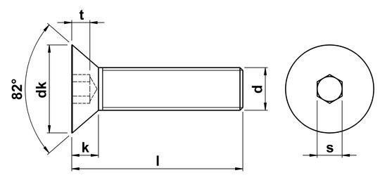 Socket Head Countersunk Screw UNC 3/8 x 1-1/4 inch in Zinc
