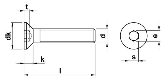 Socket Head Countersunk Screws ISO 10642 (DIN 7991) M16 in