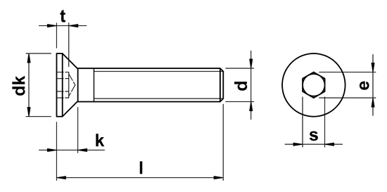 Unbrako Socket Head Csk Screw Full Thread M3 x 25mm in