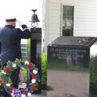 Honor is paid at the Westford Fire Department Memorial