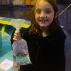 Hayley Sheridan, 8, won a goldfish.