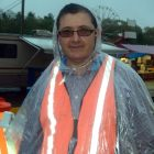 Arthur Benoit sporting the latest in poncho wear.
