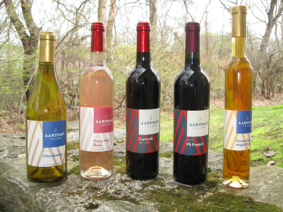 Some of Aaronap Cellar's wines. (courtesy - Noel Powell)