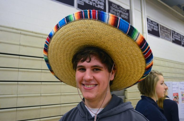 Not all seniors had a project. Sam Flannery didn't, but he's got a great hat.