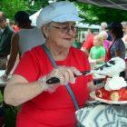 Carolyn Lumenello was on shortcake production duty.
