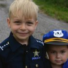 Future policemen Nicholas Bendoli (left) and Caden Anderson