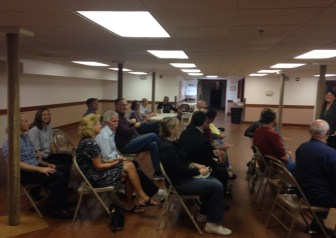 Graniteville residents gathered on Sept. 9 to discuss the future of their unused fire station (courtesy Jane Calvin)