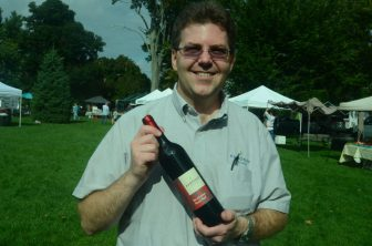 Noel Powell of Aaronap Cellars with his Revolutionary Red Wine