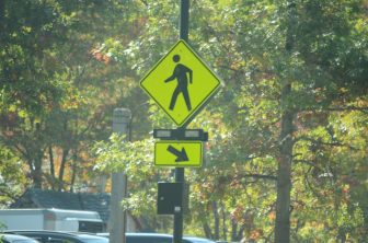 The end of September brought a new traffic signal at Kimball Farm.