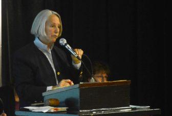 Town Moderator Ellen Harde