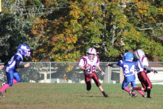 Andrew Stodden has the ball for Westford