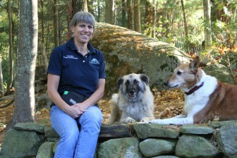 Lisa Burt with her dogs Boomer and Maya (courtesy Lisa Burt)
