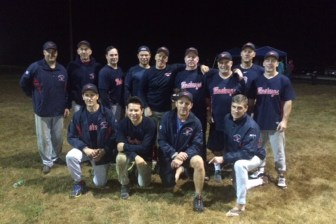 The 2015 Westford Over-30 Softball League Champions: The Nashoba Valley Veterinary Hospital Mustangs (courtesy - Roger Whittlesey)