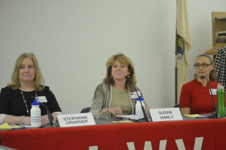 The 2016 Board of Health Candidates (l to r) Stephanie Granger, Sue Hanly, Anastasia O'Malley