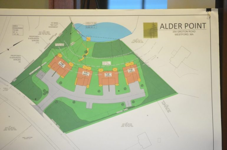 A plan of Alder Point at the May 18, 2016 Zoning Board of Appeals meeting.