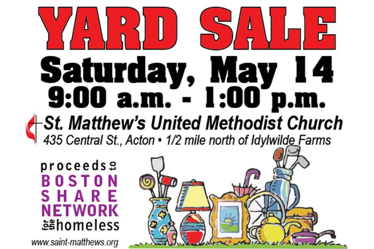 yard sale in Acton