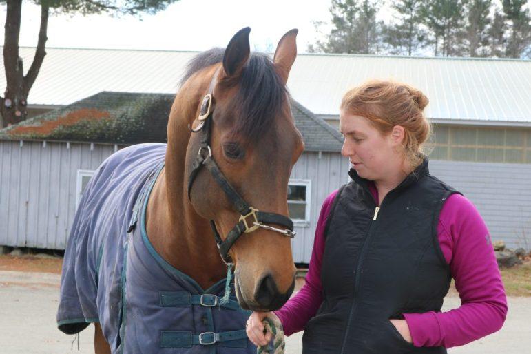 Horse lover Ashely Woodford is the heart of Cavallo Farm. PHOTO BY JOYCE PELLINO CRANE