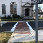 One of two new center crosswalks. COURTESY PHOTO