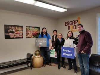 WestfordCAT staffers visit the Escape Room in Westford on Jan. 19. PHOTO BY GABRIELLE DAVIS