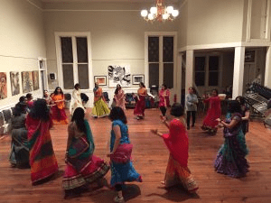 Dandiya, a popular folk-dance tradition from western India. COURTESY PHOTO
