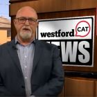 Paul Playe hosts WestfordCAT News on March 9, 2018. WESTFORDCAT PHOTO