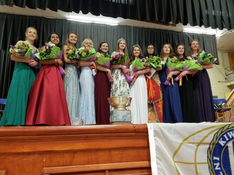 Westford Academy senior Emily Doolan is crowned 2018 Apple Blossom queen. PHOTO BY JOYCE PELLINO CRANE