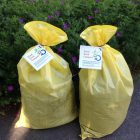 Compost bags from Westford Academy. COURTESY PHOTO