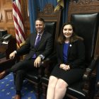State Rep. James Arciero with Katie Mitrano in the House Chamber. COURTESY PHOTO