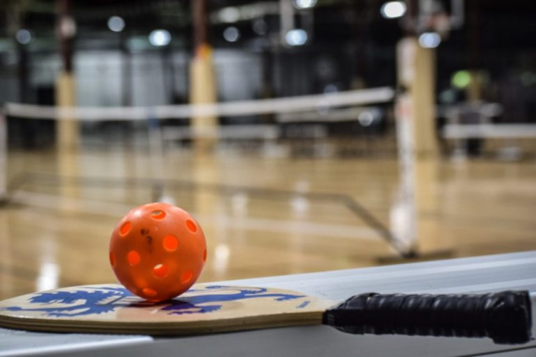 Equipment used in for playing pickleball. PHOTO BY ANTHONY CAMMALLERI